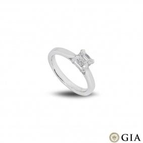 Platinum Asscher Cut Diamond Ring 1.01ct F/VS2